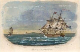 """Gold: Charleston, South Carolina. 1807. A hand coloured original antique aquatint. 8"""" x 5"""". [USAp4685]"""