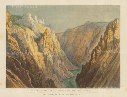 Yellowstone Park: View of the Grand Canyon from the Great Falls after T. H. Thomas.
