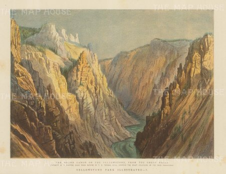 SOLD. Yellowstone Park: View of the Grand Canyon from the Great Falls after T. H. Thomas.