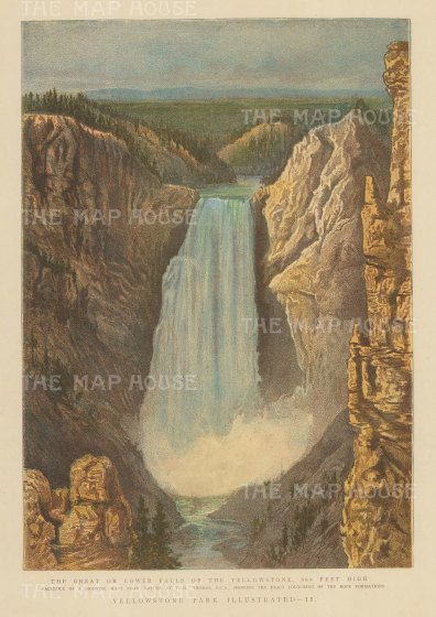 SOLD. Yellowstone Park: View of the Great Falls after T. H. Thomas.