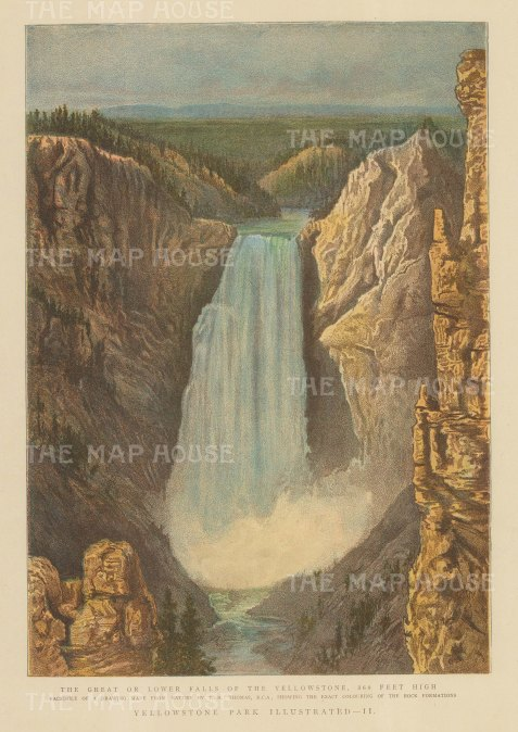 Yellowstone Park: View of the Great Falls after T. H. Thomas.