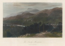 "Picturesque America: Smokey Mountains, North Carolina. 1872. A hand coloured original antique steel engraving. 10"" x 8"". [USAp4861]"