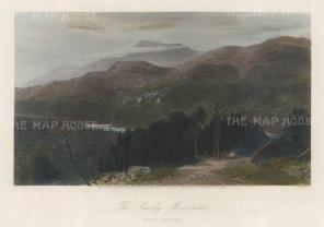 "Picturesque America: Smokey Mountains, North Carolina. 1872. A hand coloured original antique steel engraving. 10"" x 8"". [USAp4861]"