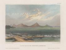 Lake Managua in Nicaragua: Looking towards volcanoes Momotombo and Momotombito.
