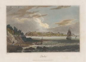 """Sherwood: Quebec. 1821. A hand coloured original antique steel engraving. 9"""" x 7"""". [CANp629]"""