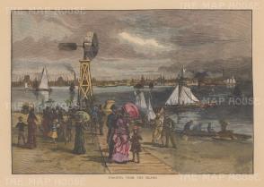 """Picturesque Canada: Toronto. 1867. A hand coloured original antique wood engraving. 10"""" x 7"""". [CANp666]"""