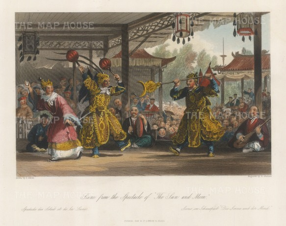 Theatre: Scene from the spectacle of The Sun and Moon.