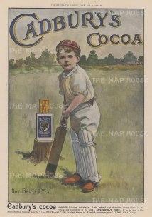 "Illustrated London News: Cadbury Cocoa. 1902. A hand coloured original antique wood engraving. 14"" x 9"". [DECp2103]"