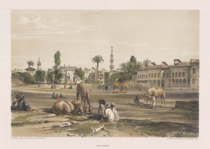 """Hay: Palace of Shereef Bev. 1840. An original colour antique lithograph. 16"""" x 12"""". [EGYp1019]"""