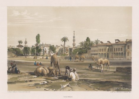 "Hay: Palace of Sherif Bev. 1840. An original colour antique lithograph. 16"" x 12"". [EGYp1019]"