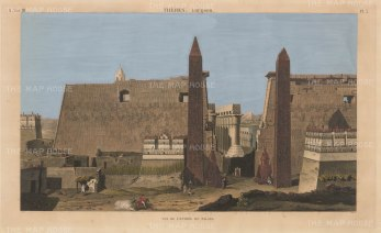 Entrance to the Palace of Luxor: Imperial edition of the Description de l'Egypte which recorded the highly influential Napoleonic expedition.