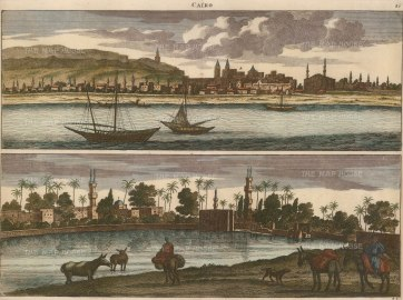Double Panorama of the City: Contemporary view before the considerable expansion and development of the 19th century.