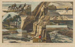 Nile: First and Second Cataracts. 8 views between the two cataracts of the Nile.