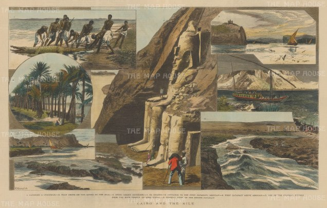 Nile River: First and Second Cataracts. Eight views between the two cataracts of the Nile.