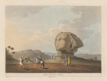"Mayer: The Sphynx. 1812. An original colour antique aquatint. 12"" x 9"". [EGYp296]"