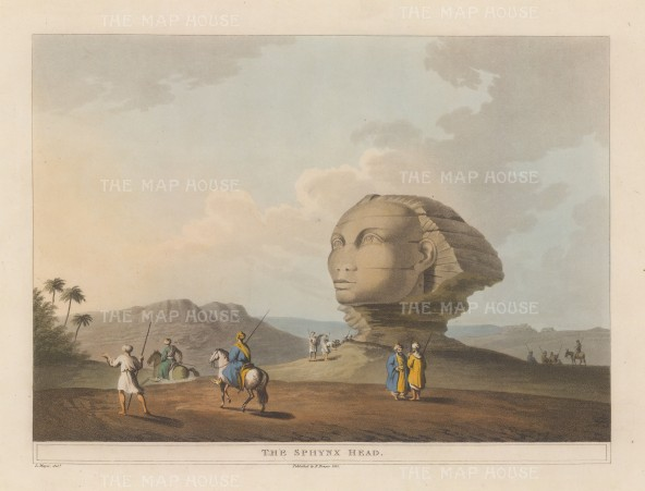 "Mayer: Sphynx. 1812. An original colour antique aquatint. 12"" x 9"". [EGYp296]"