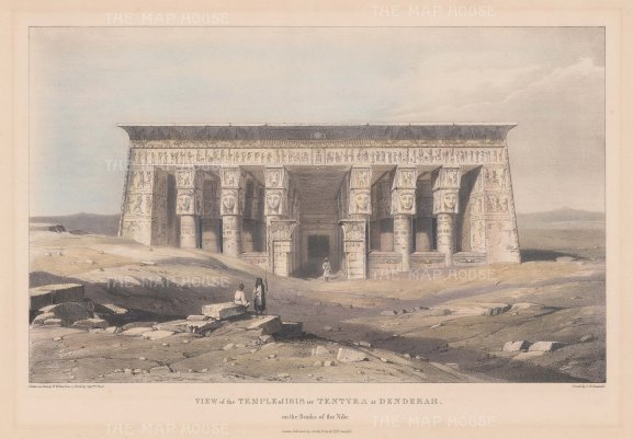 Dendera: Temple of Isis on the Nile.