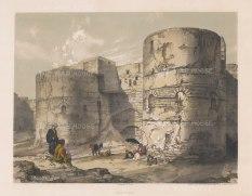 Kasr Esh-Shema Gateway: Roman fortress of Babylon or Kasr-esh Shema, 'Castle of the Beacon'.