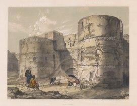 """Hay: Kasr Esh-Shema Gateway, Cairo. 1840. An original colour antique lithograph. 14"""" x 9"""". [EGYp498]"""