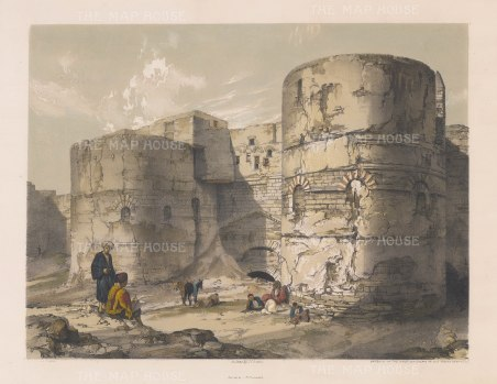 Kasr Esh-Shema Gateway: Roman fortress of Babylon or Kasr-esh Shema, 'Castle of the Beacon'.
