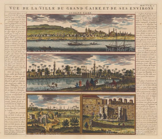 Panorama of the City: Four views in and around the city with descriptive text in French.