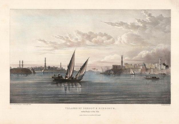 "Capt. Head: Deroot & Sindiour. 1833. An original colour antique lithograph. 16"" x 10"". [EGYp973]"