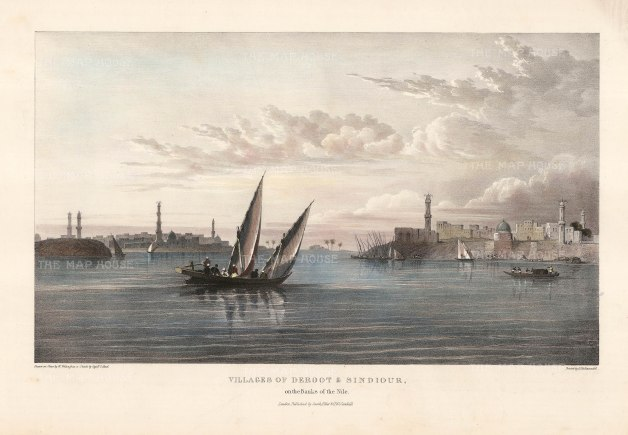"Head: Deroot and Sindiour. 1833. An original colour antique lithograph. 16"" x 10"". [EGYp973]"