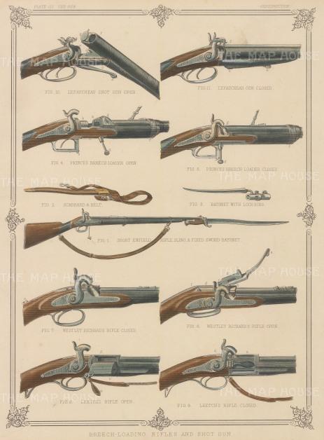 Guns:Five Breech-Loading Rifles and Shot Guns iincluding Short Enfield Rifle and Lefaucheau Shot Gun.