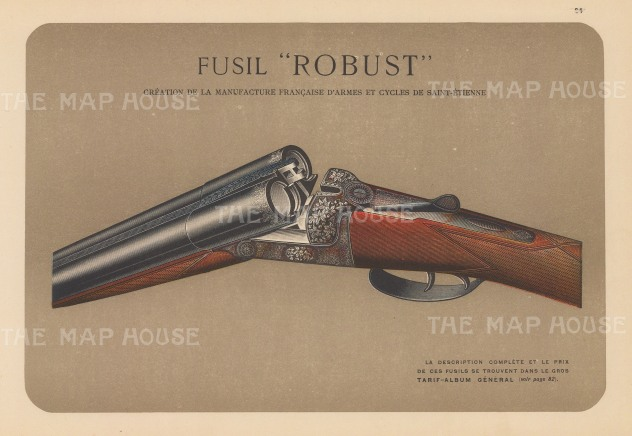 "Mahler: Fusil Robust. c1910. An original antique chromolithograph. 10"" x 7"". [FIELDp1402]"