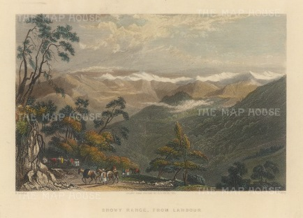 "White: Himalayas. 1838. A hand coloured original antique steel engraving. 8"" x 6"". [INDp1466]"