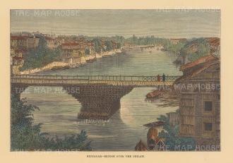 Srinagar: View of the bridge over the Jhilam.