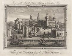 "Chamberlain: Tower of London. 1773. An original antique copper engraving. 7"" x 6"". [LDNp10529]"