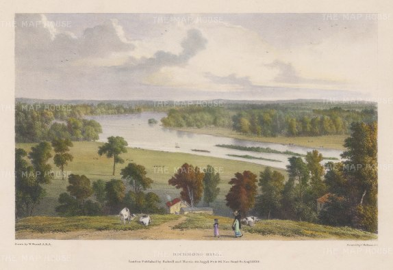Richmond Hill: View overlooking the Thames. After William Westall, RA.