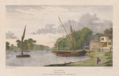 Richmond: View looking from the Bridge. After William Westall, RA.