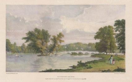 Richmond: View towards Richmond Bridge. After William Westall, RA.
