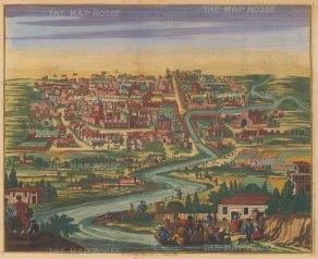 Iran: Kom(Qom).Panorama of the City and Qom River: