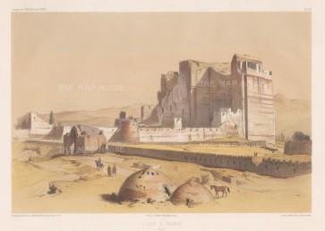 Iran: Tauris (Tabriz): View of the ruins of the Arg Alishah citadel.