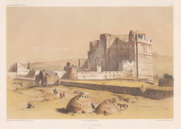 Iran: Tauris (Tabriz): View of the ruins of the Arg Alishah citadel.