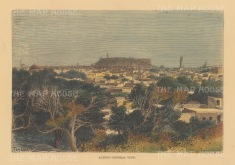 "Reclus: Aleppo. 1894. A hand coloured original antique wood engraving. 8"" x 6"". [MEASTp1655]"