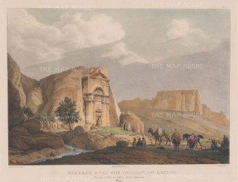 Petra: Tomb of Sextius Florentinus, a Roman governor of Arabia Petrea. (Tomb with Latin inscription).