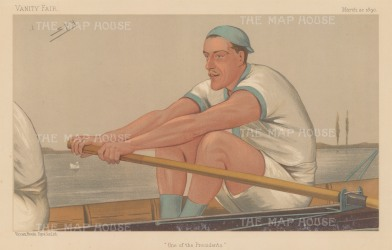 "Vanity Fair: Mr S.D. Muttlebury. 1890. An original antique chromolithograph. 12"" x 7"". [SPORTSp1695]"