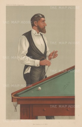 John Roberts Jr. One of the great champions of billiards, Roberts helped to establish the rules for English billiards.