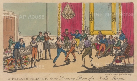 A Private Turn-Up, in the Drawing Room of a Noble Marquis.