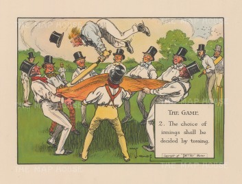 The Game: 2. The Choice of Innings shall be decided by tossing.
