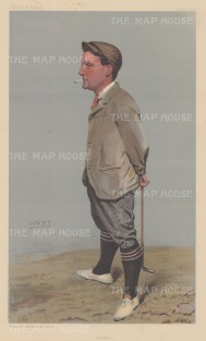"Vanity Fair: Harold Hilton. 1903. An original antique chromolithograph. 7"" x 12"". [SPORTSp3082]"