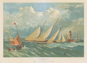 Yachting. After a drawing by Edwin Weedon.