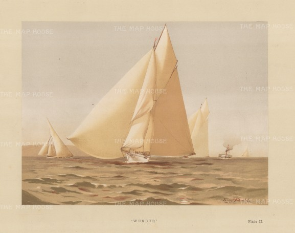 Wendor. 125 ton yawl designed by George Watson in 1883.