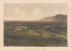 "U.S. Geological Survey: Sou Springs, Osobb Valley, Montana. 1878. An original colour antique lithograph. 9"" x 7"". [USAp3039]"
