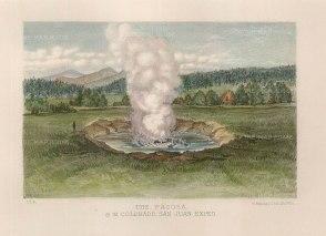 "Sinclair: Pagosa Spring, Colorado. c1870. An original colour antique lithograph. 9"" x 6"". [USAp4007]"
