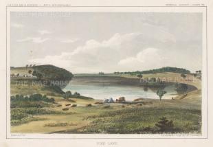 "U.S.P.R.R. Exp.: Pike Lake, Wisconsin. 1857. A hand coloured original antique lithograph. 10"" x 8"". [USAp4186]"